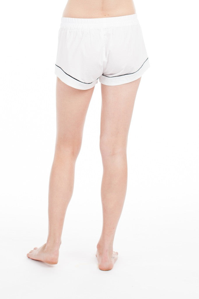 Jane Short - White w/Piping