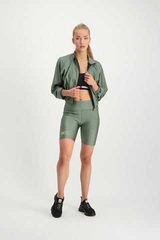IBOMB SHINY OVERSIZED BOMBER GREEN