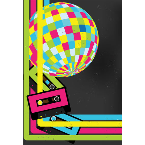 80's Disco Photo Background