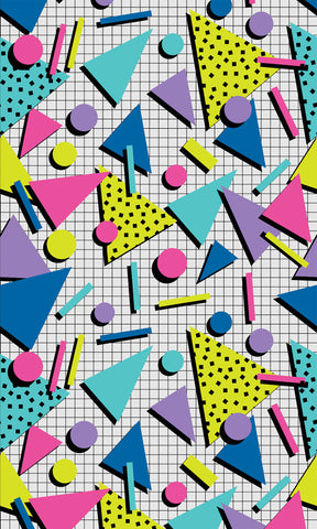 80's Party Shapes Photo Backdrop