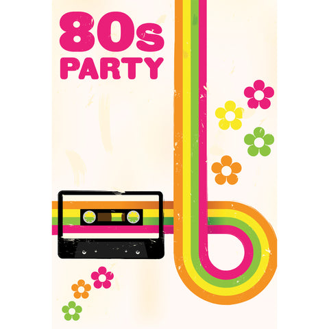 80's Party Photo Backdrop