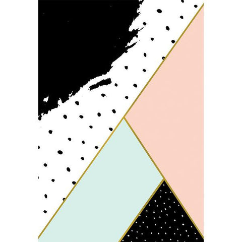 Clearance Abstract Triangles & Dots Photo Backdrop