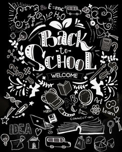 Clearance Back to Chalkboards Photo Backdrop
