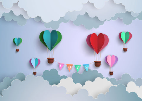 Balloon Love Photo Background