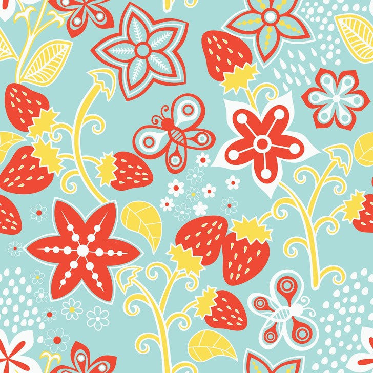 Berries & Flowers Photo Background