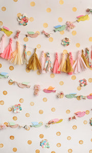 Birds and Streamers Photo Backdrop