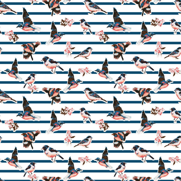 Birds and Stripes Photo Backdrop