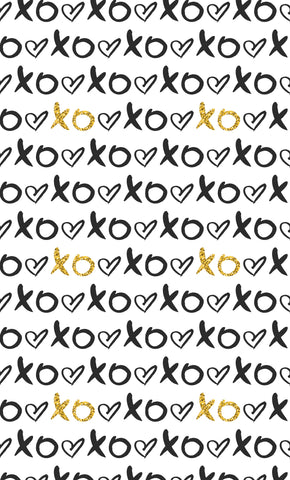Black Gold XO Photo Backdrop