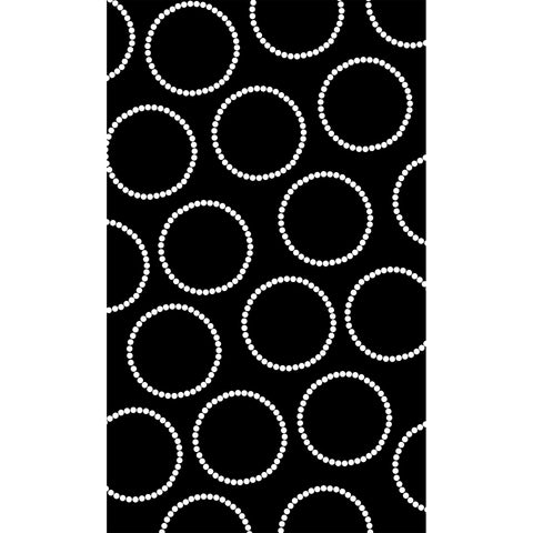 Black with White Circles Photo Backdrops