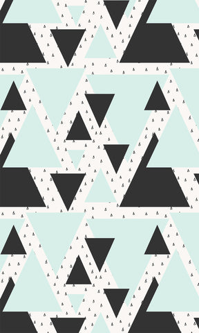 Blue & Black Triangles Photo Background