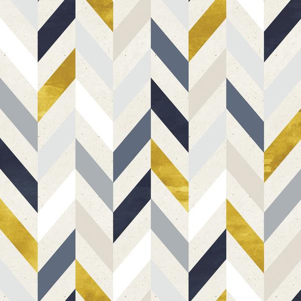 Clearance Blue & Gold Herringbone Photo Backdrop