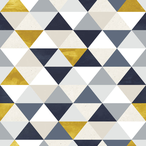 Blue & Gold Triangles Photo Background