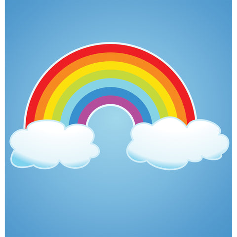 Blue Sky Rainbow Photo Backdrop