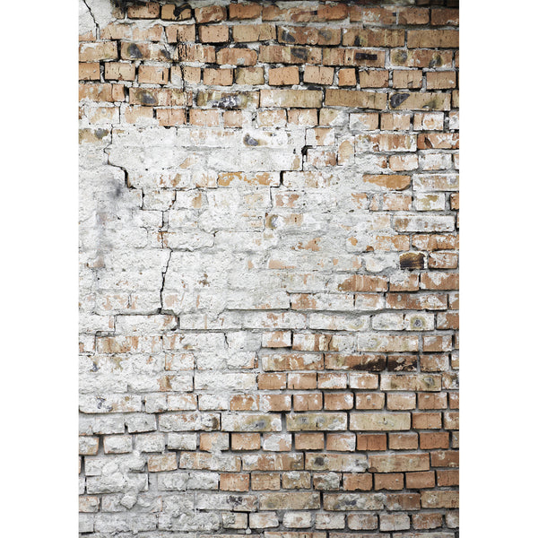 Cracked and Spackled brick wall Photo Background