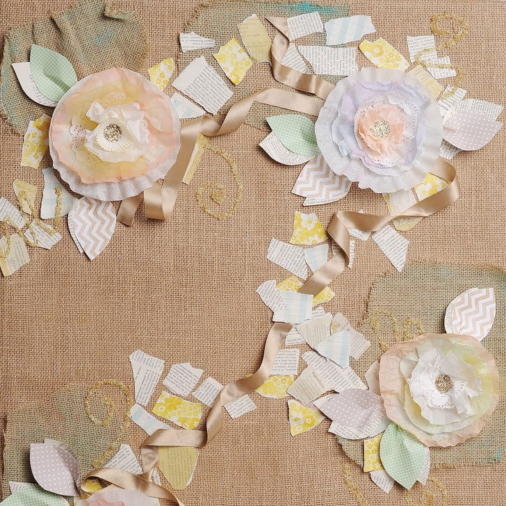 Burlap & Blossoms Photo Background