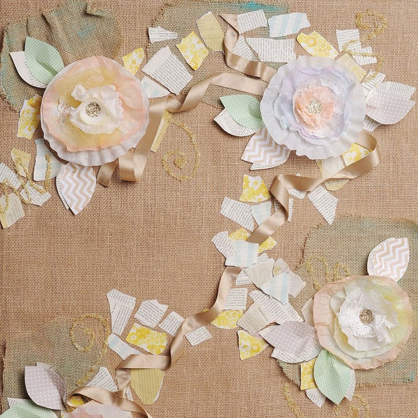 Burlap & Blossoms Photo Backdrop