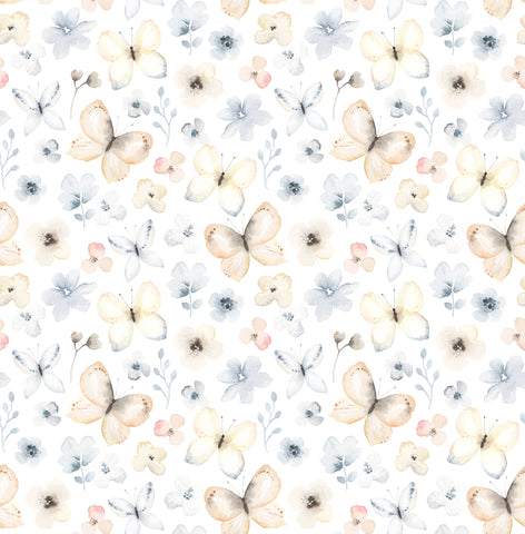 Butterflies and Flowers Photo Backdrop