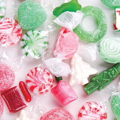 Candy Christmas Photo Backdrop