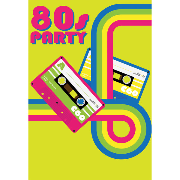 Cassettes Party Photo Backdrop