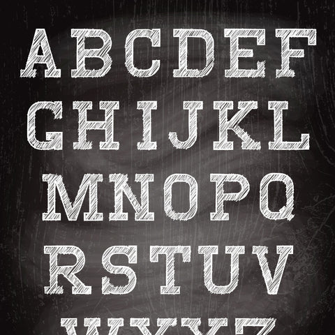 Chalkboard Alphabet Photo Background