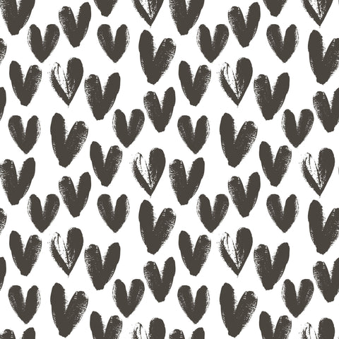 Charcoal Hearts Photo Backdrop