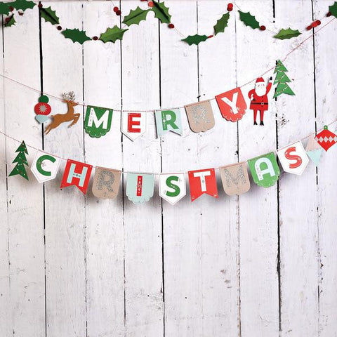 Clearance Christmas Banner Photo Backdrop