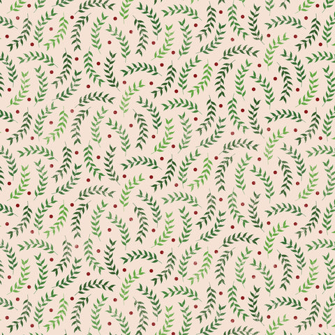 Christmas Green Leaves Photo Backdrop
