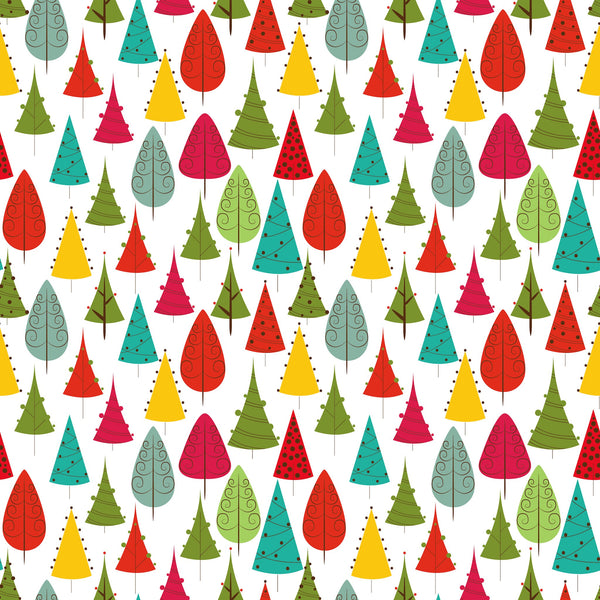 Colorful Christmas Trees Photo Background