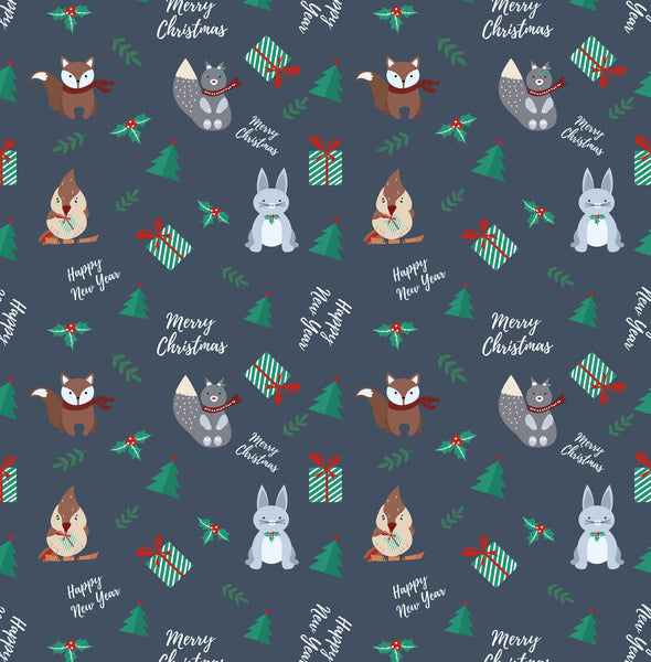 Christmas Critters Photo Backdrop