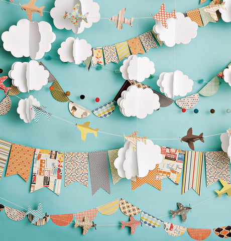 Cloudy Day Airplanes Photo Backdrop
