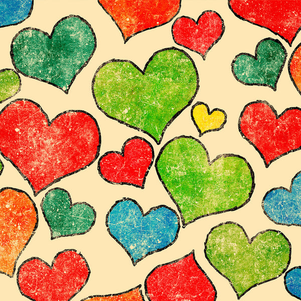 Colored Hearts Photo Backdrop
