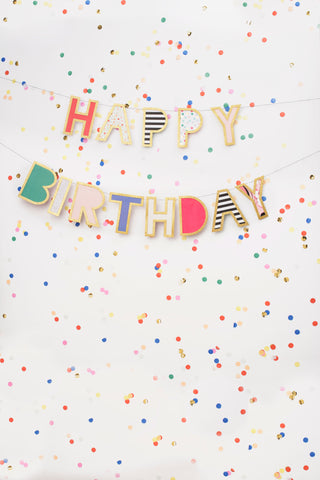 Confetti Birthday Photo Backdrop