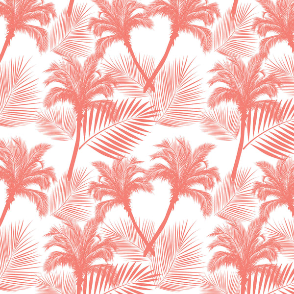 Coral Palms Photo Backdrop