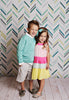 Stenciled Herringbone Photo Backdrop