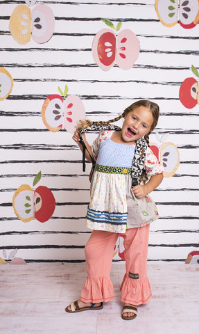 A is for Apple Photo Backdrop