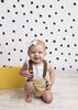 Black Polkadots Photo Backdrop