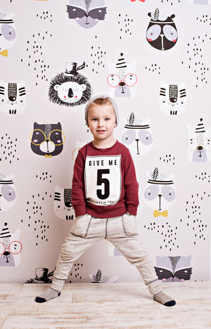 Smart Forrest Critters Photo Backdrop