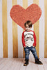 Gold Stripe Heart Photo Backdrop