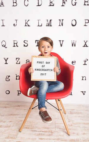 Typewriter Alphabet Photo Backdrop