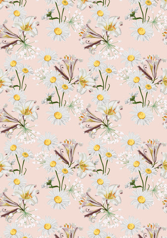 Daisy Lilies Photo Backdrop