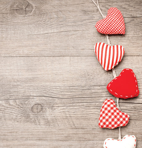 Fabric Hearts Photo Backdrop
