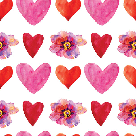 Flowers & Hearts Photo Backdrop