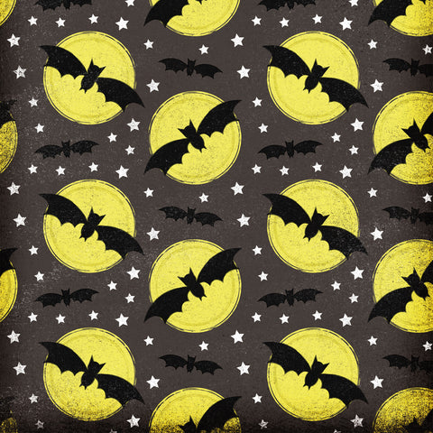 Full Moon Bats Photo Backdrop