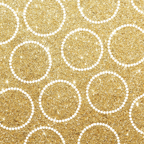 Glitter & Gold With Dots Photo Backdrop