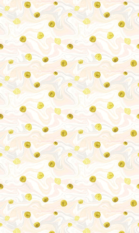 Gold Dots & Marble Photo Backdrop