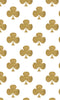 Gold Shamrocks on White Photo Backdrop