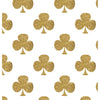 Gold Shamrocks on White Photo Background
