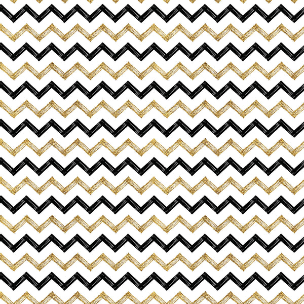 Gold Zig Black Zag Photo Backdrop