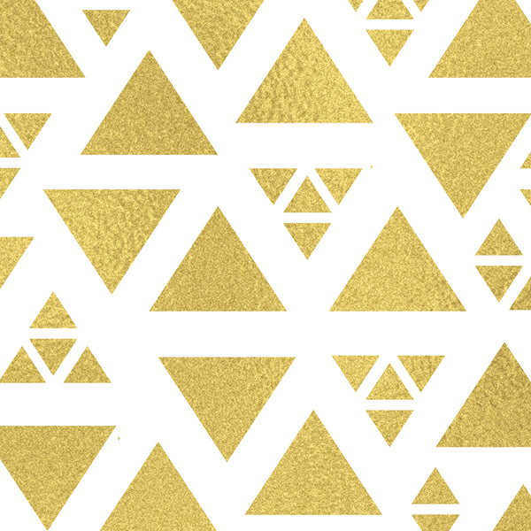 Golden Shaped Triangles Photo Backdrop