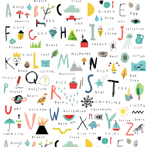 Hand-Drawn Alphabet Photo Backdrop